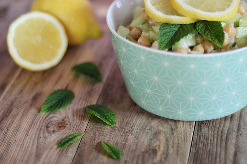 Salade d'été citron menthe - Juliette blog féminin