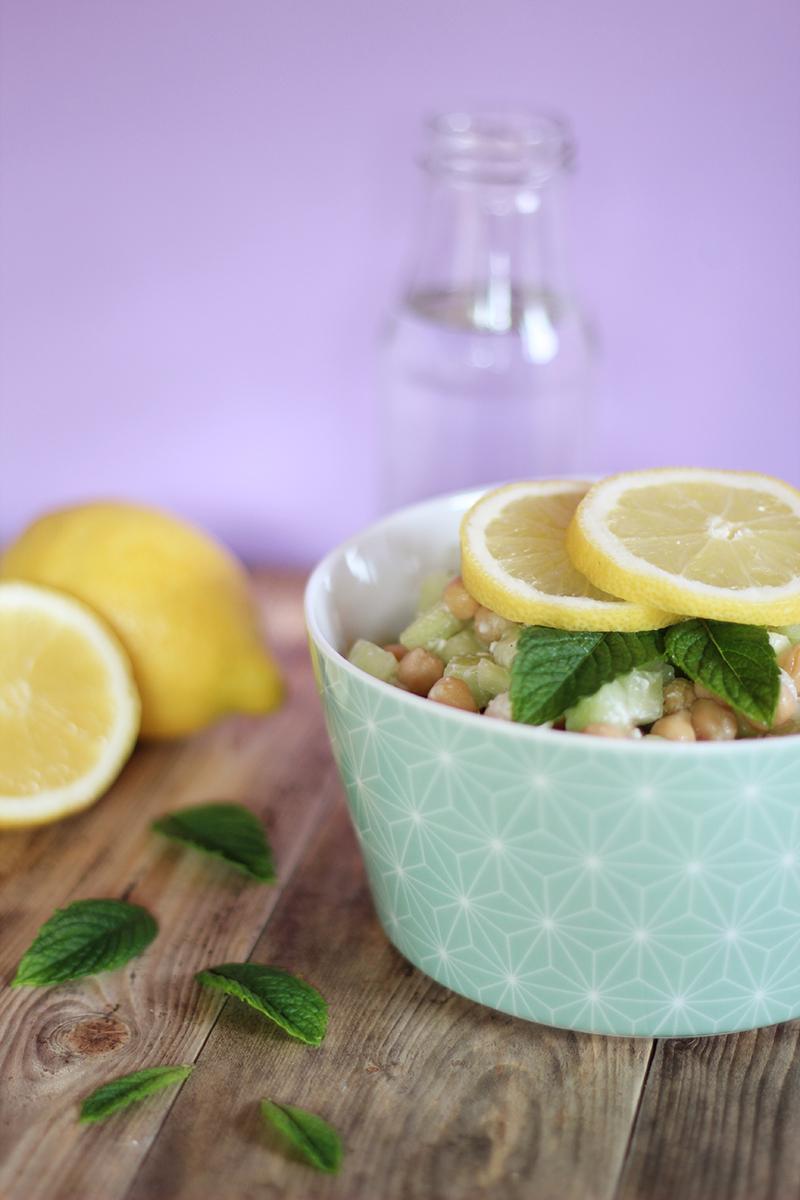 Salade de pois chiches concombre feta citron menthe - Juliette blog féminin (5)