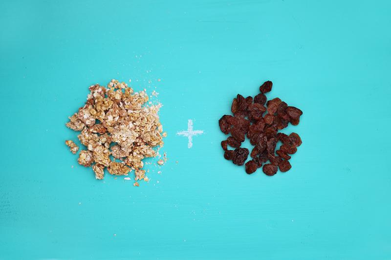 Ingrédients pour un granola maison raisins secs - Juliette blog féminin