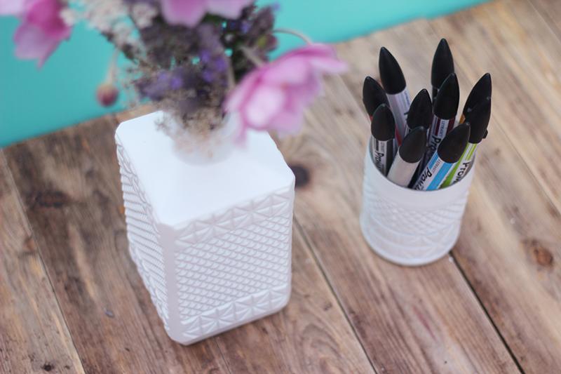 DIY des verres à motifs géométriques - Juliette blog féminin