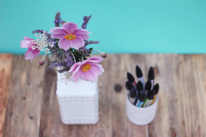 DIY verre et vase motifs géométriques - Juliette blog féminin