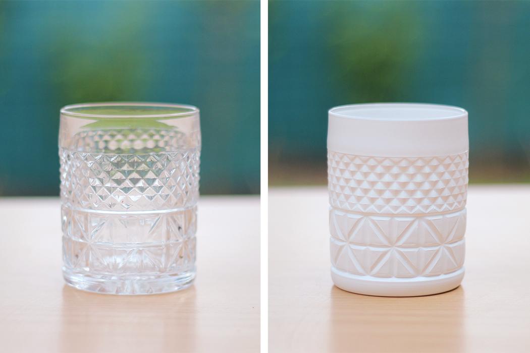 avant apres DIY peindre des verres à motifs géométriques - Juliette blog féminin