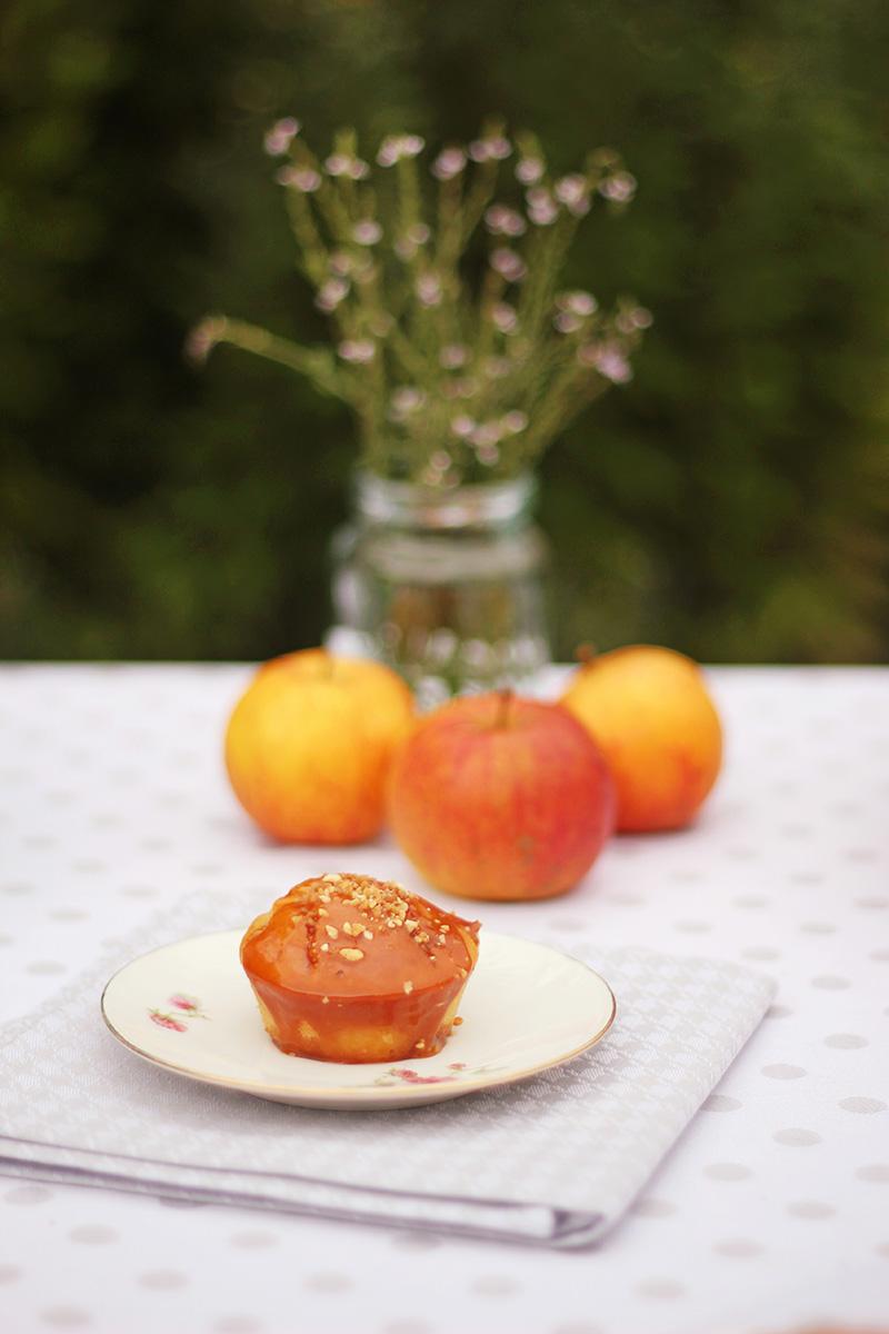 Muffins aux pommes nappage caramel au beurre salé - Juliette blog féminin 5
