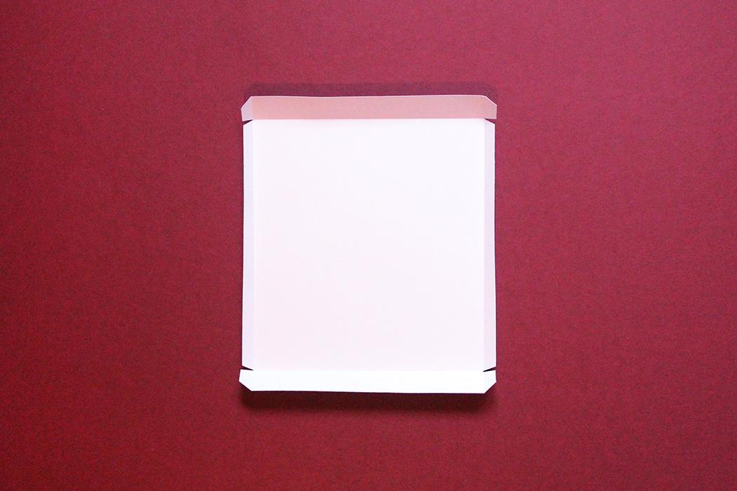 Tuto calendrier de l'avent 05 plier le décor du coffret