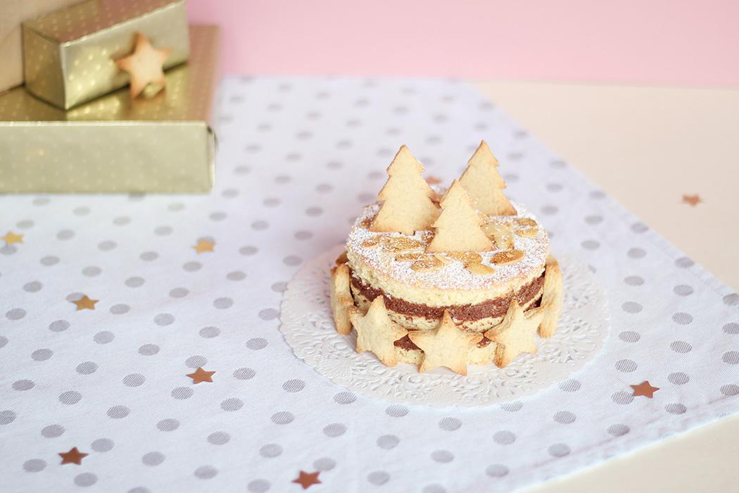 Gâteau de Noël mousse au chocolat noir et amandes - Juliette blog féminin