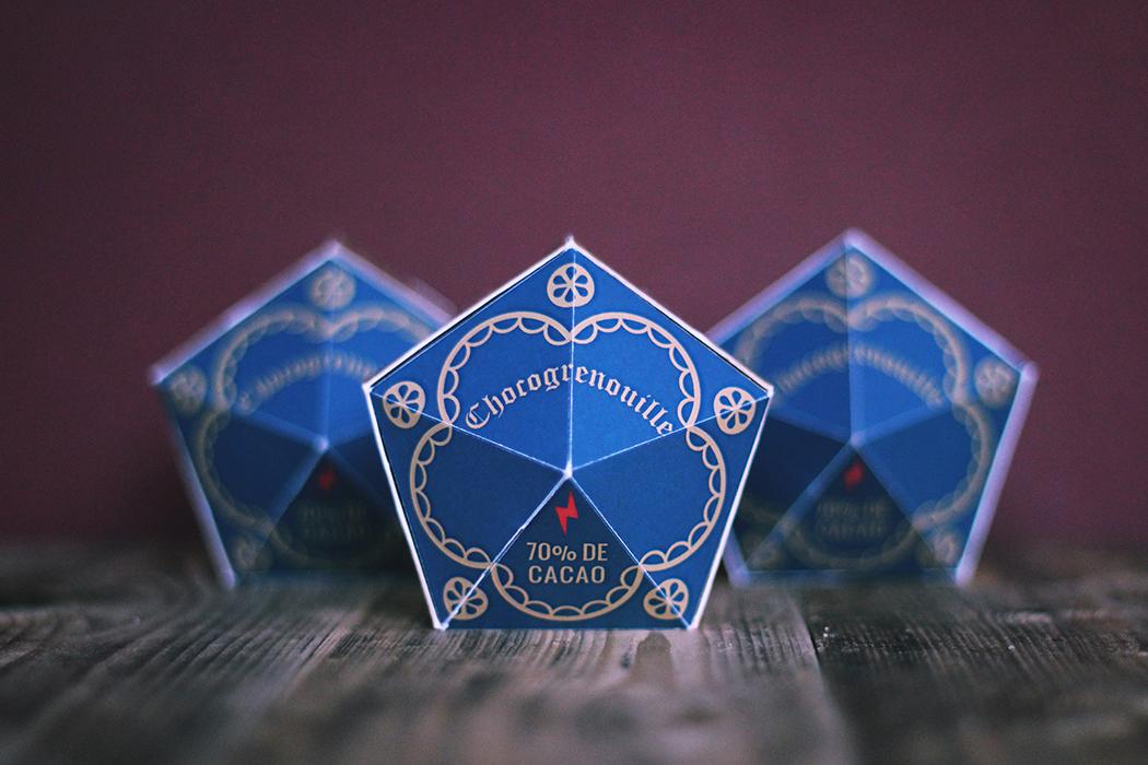 Création d'une boite de chocogrenouille - Chocolate frog box Harry Potter - Juliette Blog féminin