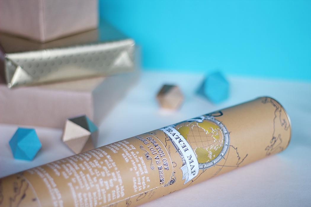 Mappemonde à gratter - Cadeau de Noël - Juliette blog féminin