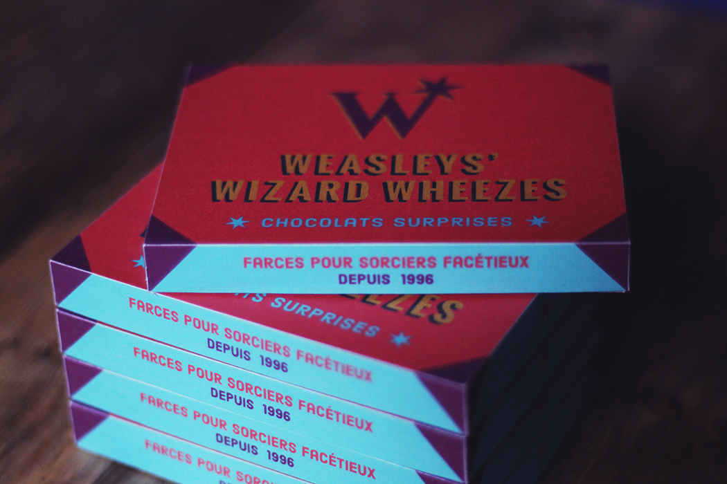 Weasleys' Wizard Wheezes chocolate - Boite de chocolats Weasley Harry Potter