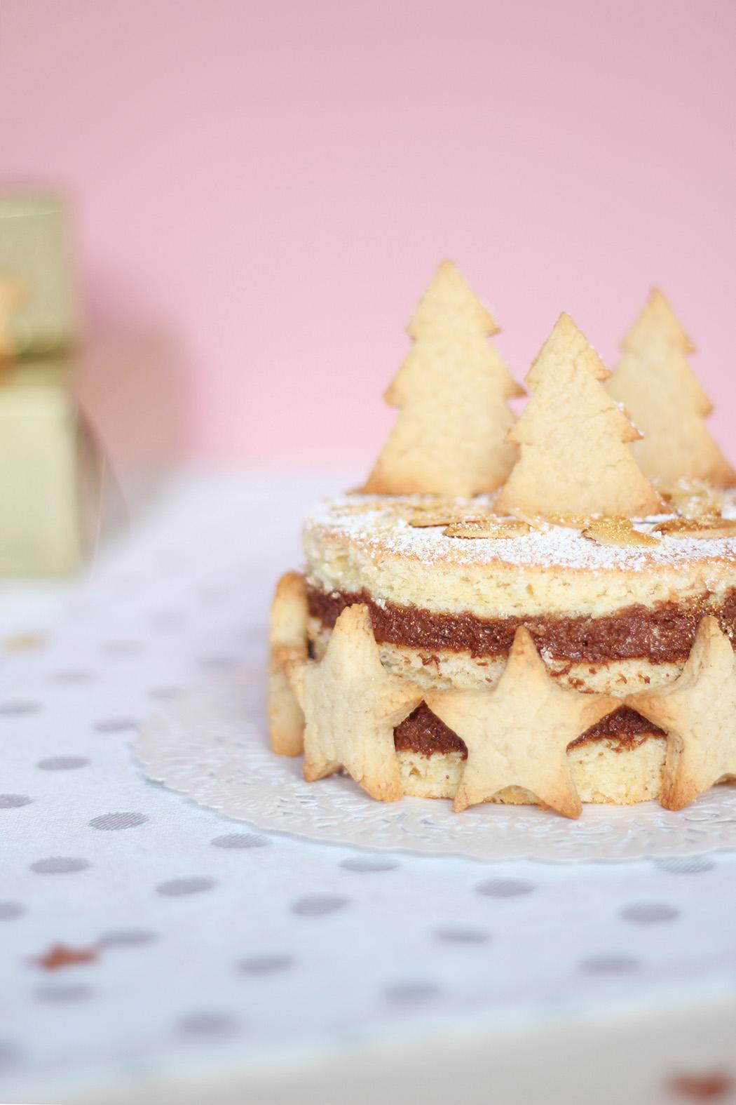 Layer cake mousse au chocolat noir et amandes - Juliette blog féminin