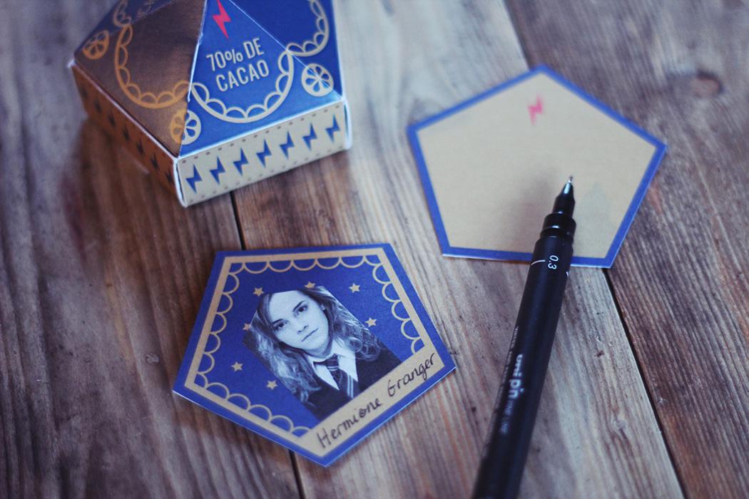 Imprimer carte Chocogrenouille - Chocolate frog Harry Potter - Juliette Blog féminin