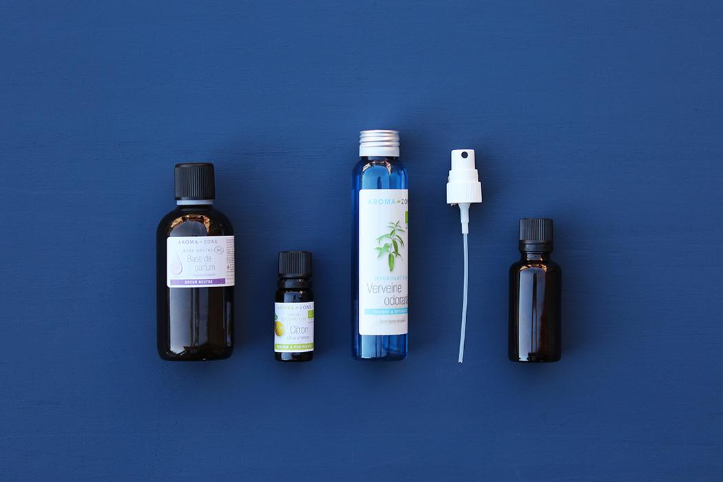 DIY Spray fraicheur citron verveine - Ingredients -Juliette blog féminin