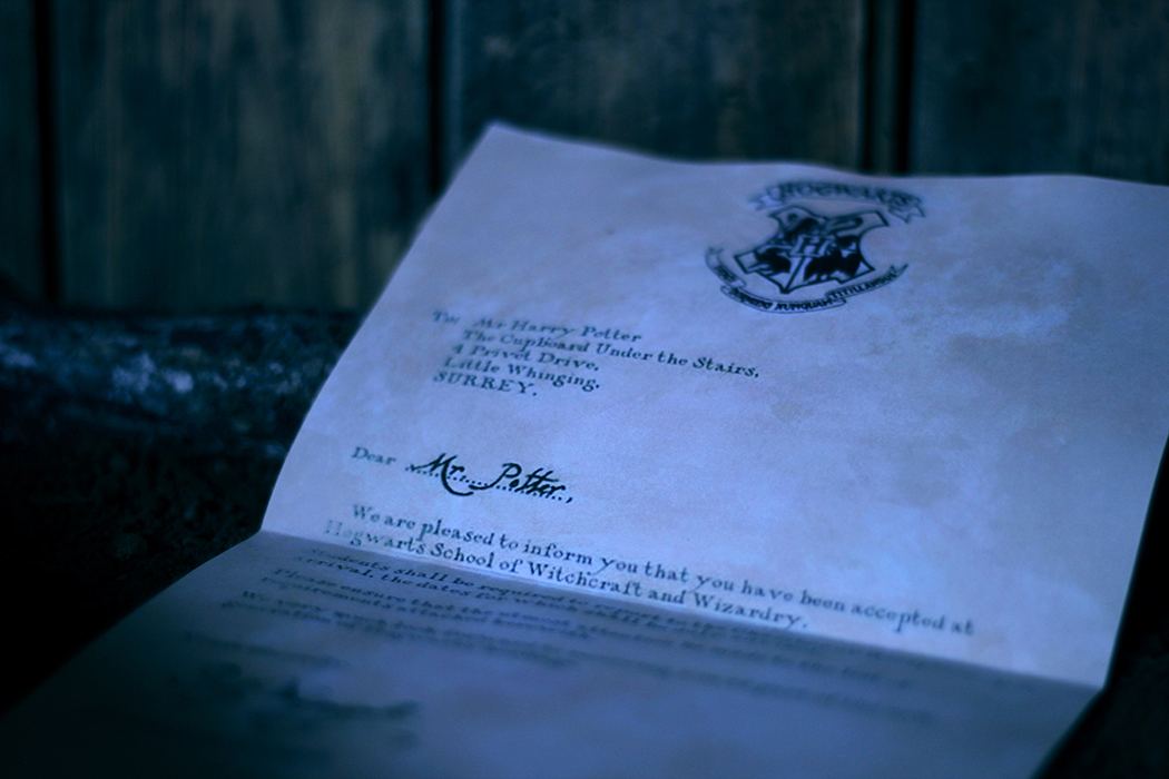 Harry Potter Hogwarts letter - Juliette blog féminin