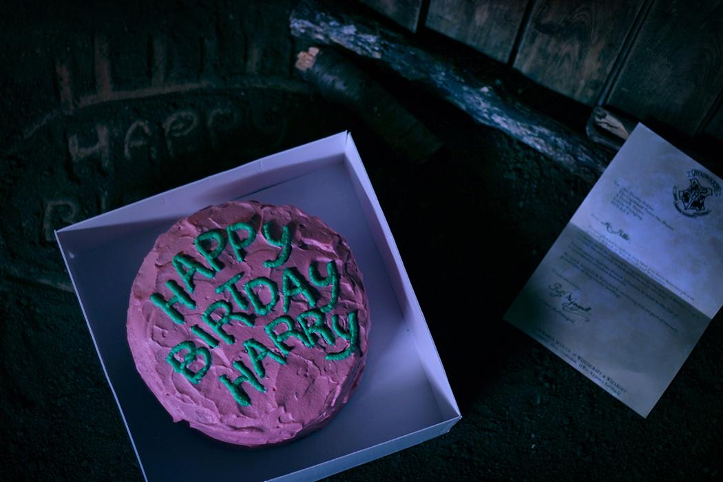 Juliette Lebreton à Table Dans Harry Potter 4 Happy Birthday