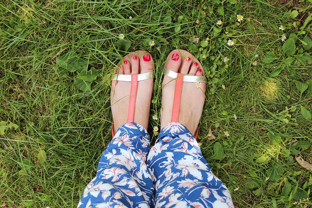 Pantalon à fleurs - Juliette blog féminin