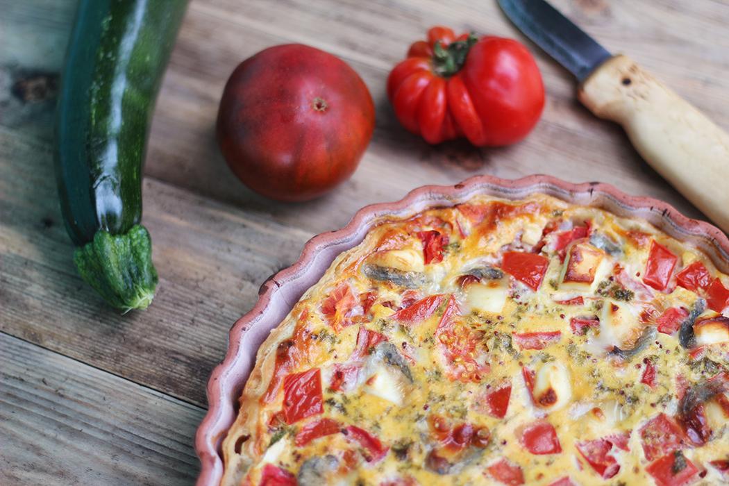 Quiche aux légumes d'été tomate courgette - Juliette blog féminin