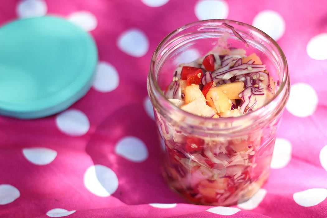 Salade de chou melon poivron sésame - Juliette blog féminin