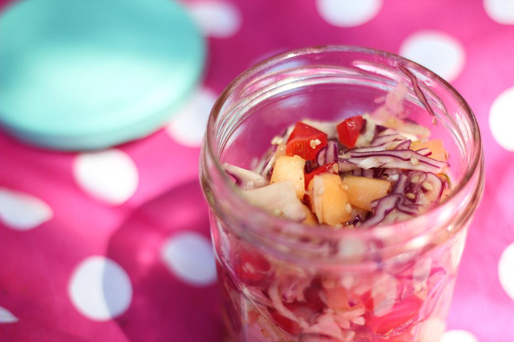 Salade sucrée salée chou melon poivron sésame - Juliette blog féminin