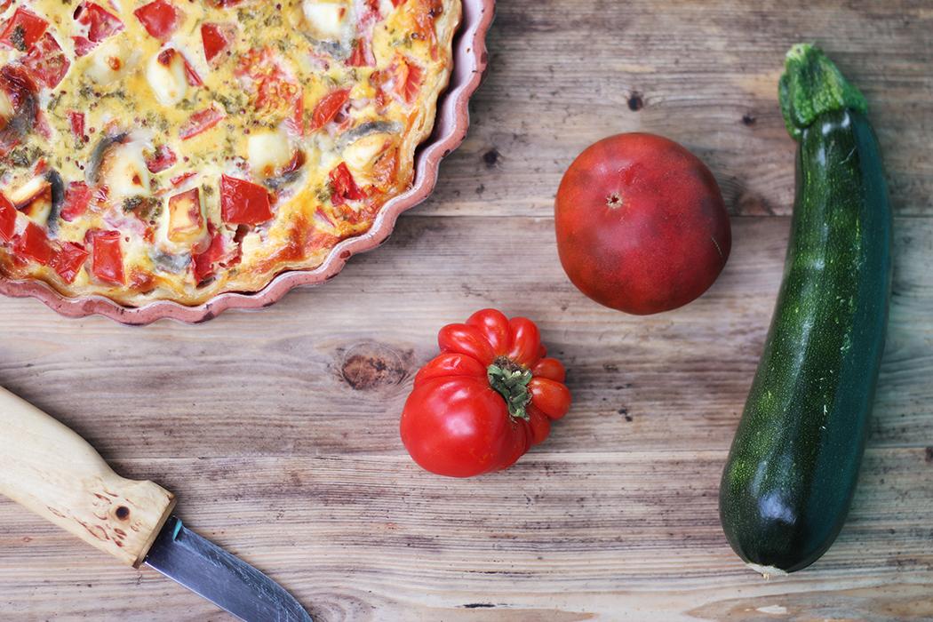 quiche aux légumes d'été courgette tomate - Juliette blog féminin