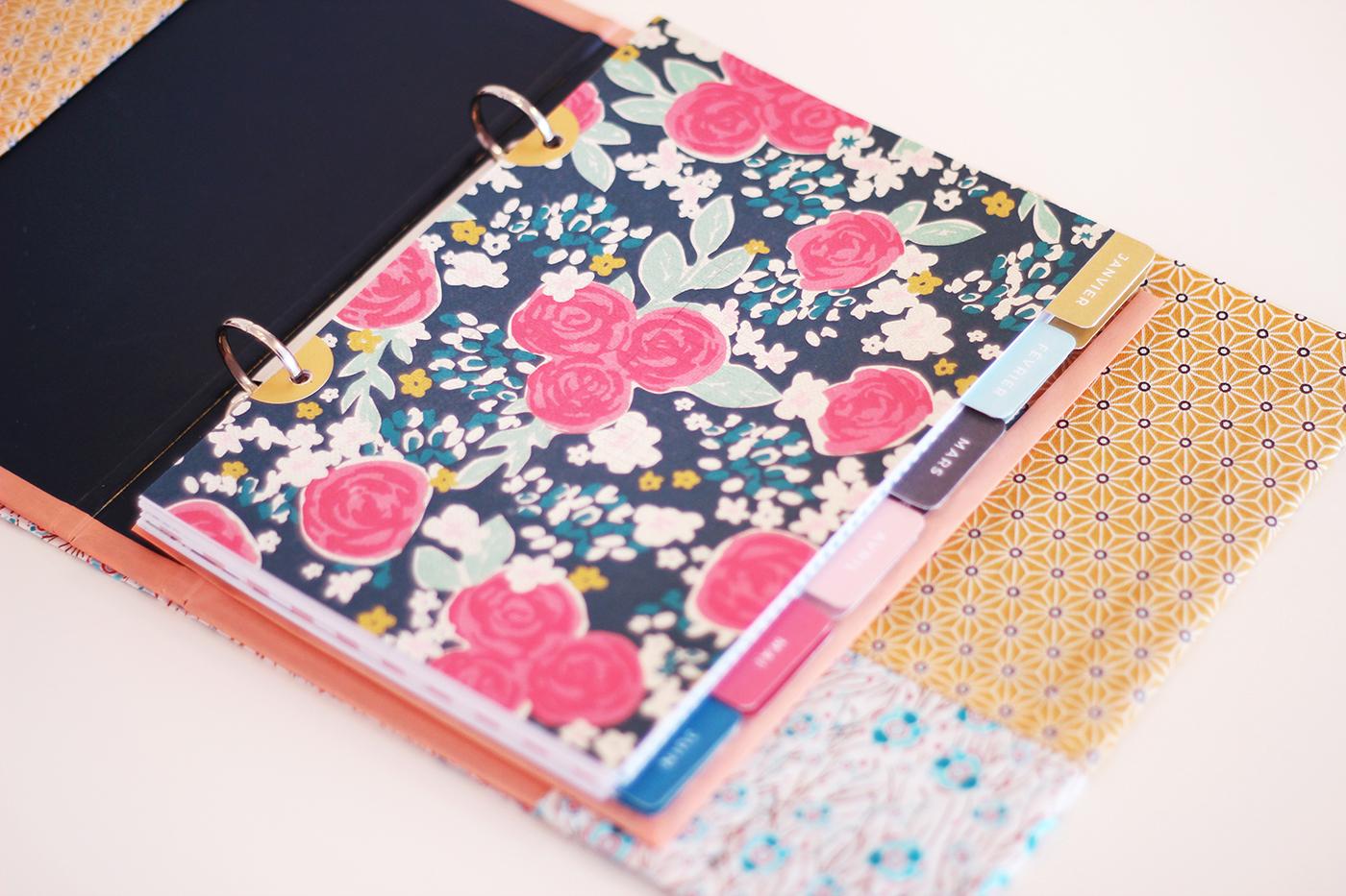 Papier à motif agenda diy - Juliette blog féminin (2)