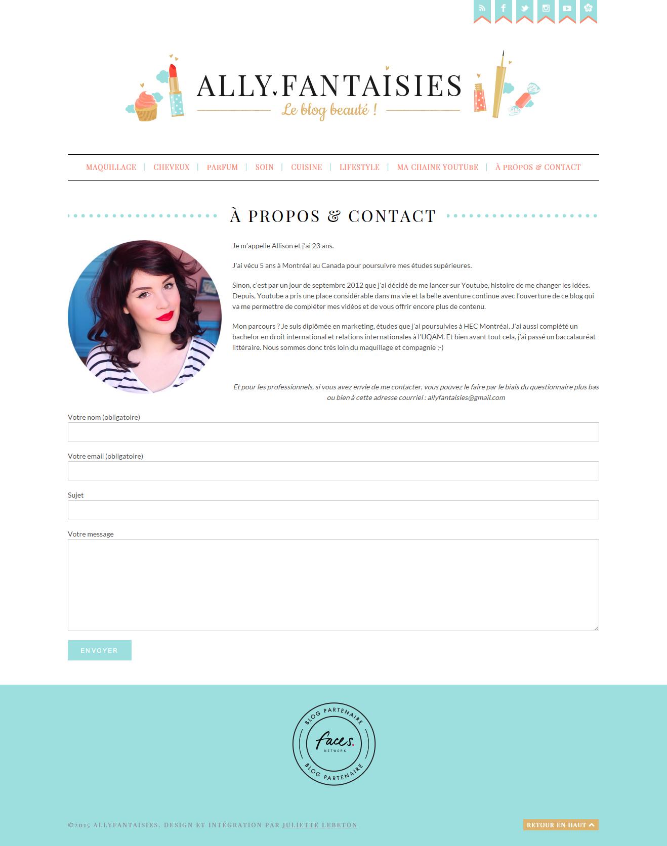 Juliette Lebreton Logo Et Design De Blog Allyfantaisies