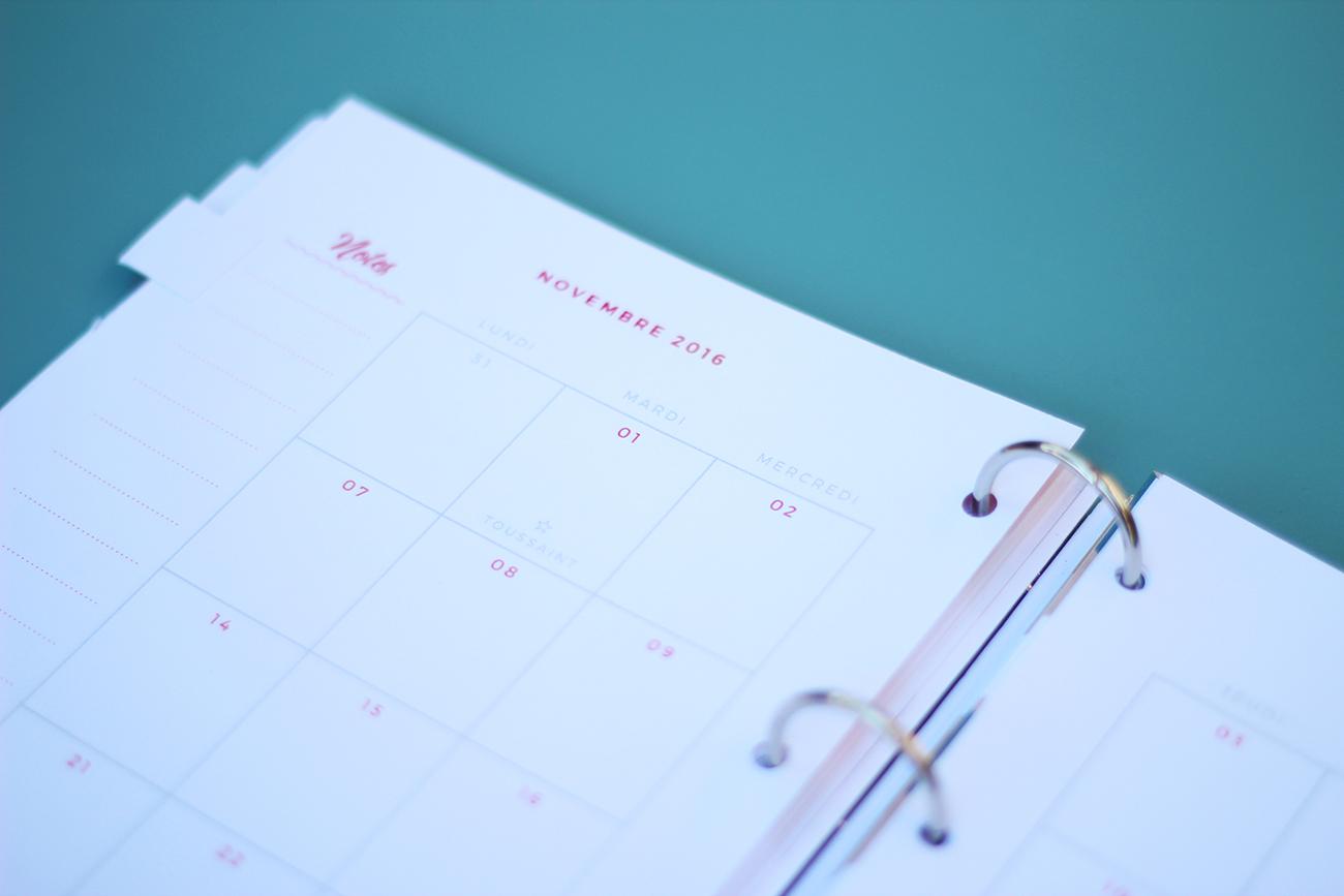 agenda 2016 2017 à imprimer agenda mensuel
