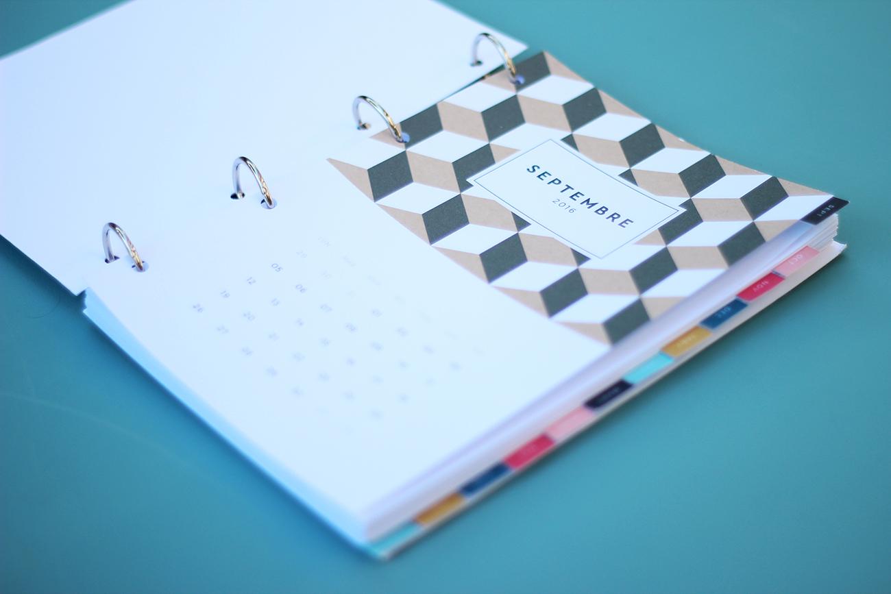agenda 2016 2017 à imprimer planner mensuel