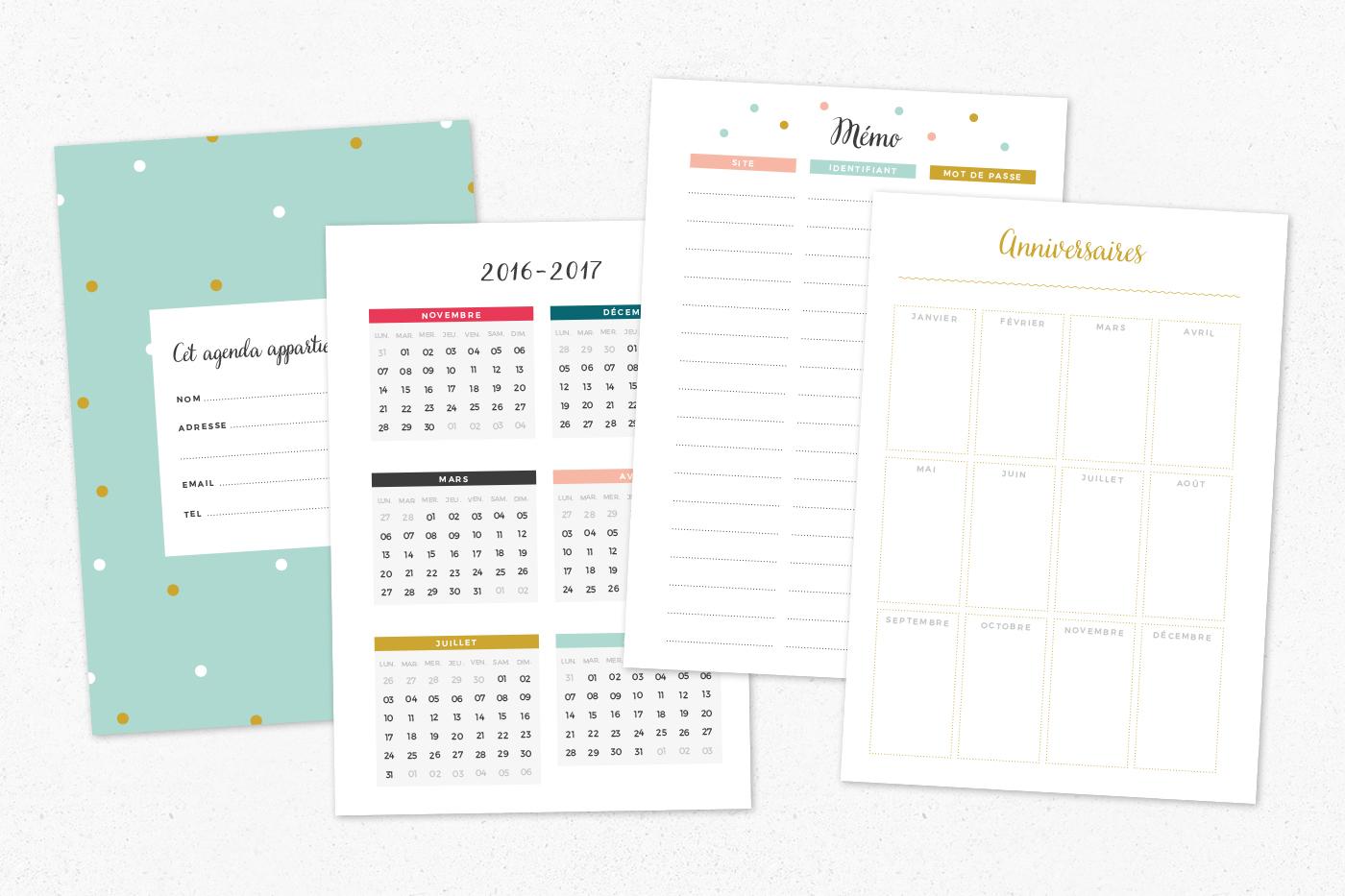 pages bonus planner à imprimer free printable