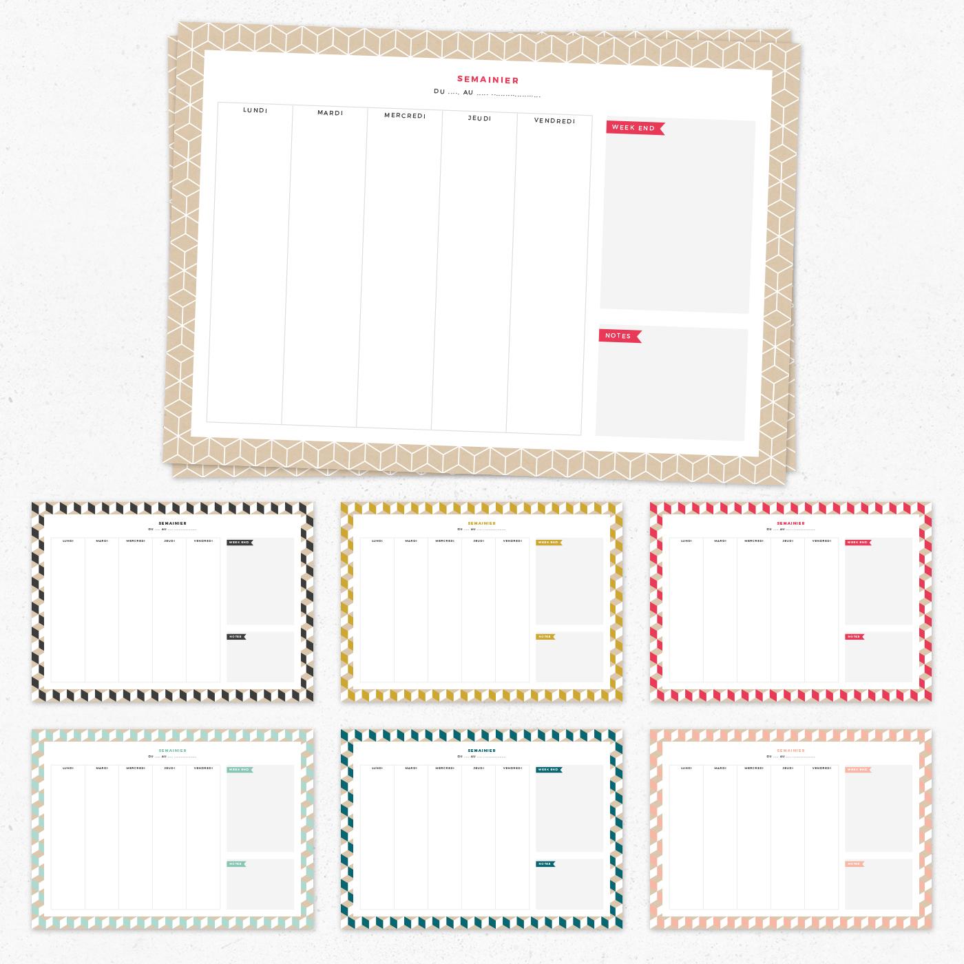 semainier-a4-a-imprimer-free-printable